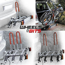 New Model Towbar Mounted Tilting 2,3,4 Bike Rack up to Four Cycle Carrier 4x4