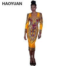 Summer African Traditional Print Vintage Dashiki Dress, Delivery In About 17 Day