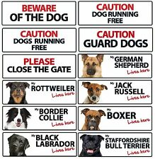 Dog Breed Caution & Warning Landscape Plastic Signs