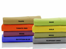 """Scala Brand 1000TC 3-PC Soft Fitted Sheet 100%Cotton Solid 30"""" Extra Deep Pocket"""