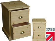 Solid Pine Filing Cabinet, Handcrafted Home Office 2 Drawer A4 Filing Unit