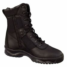 Rothco Forced Entry 5053 Black Tactical Boots for Police, EMS w/Side Zipper 5-13