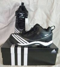 ADIDAS G06752 SCORCH BLAST MID J YOUTH FOOTBALL SHOES/CLEATS  BLACK/WHITE