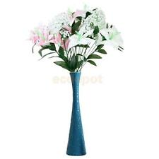 Simulation Artificial Lily Plant w. 12 Flower Head Home Wedding Party Decoration