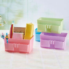 Stationery Case Storage Box Desk Decor Cosmetic Makeup DIY Organizer Plastic