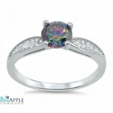 Solitaire Wedding Engagement Ring 925 Sterling Silver 1.20CT Russian Topaz CZ