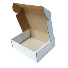 50 White Shipping  Boxes Postal Mailing Gift Pcket Small Parcel Strong Cardboard