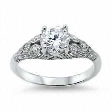 Solitaire Wedding Engagement Ladies Ring 925 Sterling Silver 1.40Ct Russian CZ