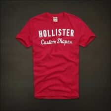 NWT Hollister Men's Muscle Graphic Tee S L Tshirt Top Pink HCO Dudes NEW