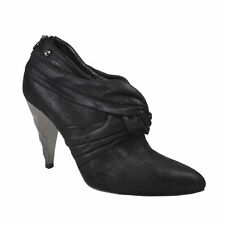 Just Cavalli Suede Black Pointy Toe Zip Up Ankle Boots Shoes Size 5.5  7  7.5 11