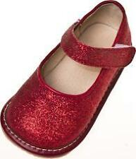 Girl Sparkle Mary Jane Squeaky Shoes RED Toddler Size 1-7