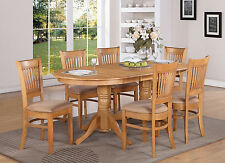 7 PC dining room set Table with a Leaf and 6 Dining Chairs