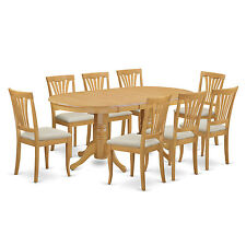 9 Piece dining room set Dining table with Leaf and 8 dining room chairs