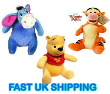 "Disney 12"" Winnie the Pooh Tigger Eeyore Soft Cuddly Kids Plush Bedtime Toy Gift"