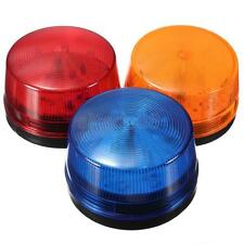 12V Round Safety Alarm Security Post Caution Flash Warning LED Light Siren