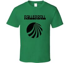 Rollerball Sci-Fi Cult Classic Movie Retro 1975 T-Shirt New Green Madrid Tee