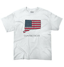 Connecticut State Pride American Flag USA Patriotic Gift Ideas Youth T-Shirt