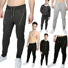 Mens Long Jogging Gym Fitness Drop Crotch Pocket Fit Pants Bottoms Trousers