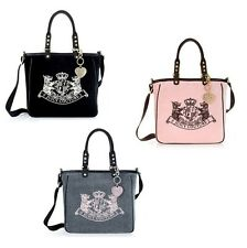 NEW JUICY COUTURE 3 SCOTTIE Embroidery Large Tote Bag