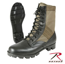 Rothco 5080 GREEN Olive Drab Leather Military Jungle Boots all sizes 1 to 15
