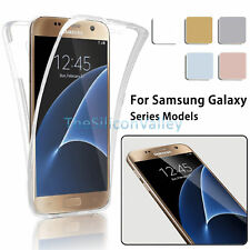 Crystal Clear Cover Full Body Protective Case For Samsung S6 Edge/Plus J7/J5/J3