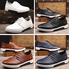 Stylish Men British Style Lace Up Casual Sneaker Oxford Loafers Dress Flat Shoes