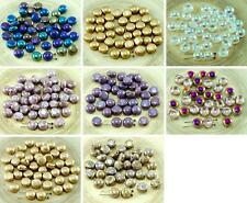 NEW SHAPE 30pcs CANDY Round Domed 2 Two Hole Weaving Czech Glass Beads 8mm