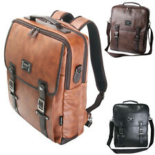 ChanChanBag 3 Way Bag Mens Backpack for Laptop Faux Leather Messenger Bag 591 UK