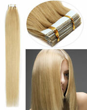 Seamless Tape In Skin Weft Remy Human Hair Extension #24 Golden Blonde 16''-24''