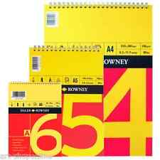 Daler Rowney Red and Yellow A6 A5 A4 Spiral Sketch Pad 150 gsm