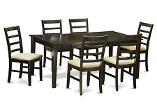 7 PC Dining Room Set-Dinette table with Leaf and 6 dining room chairs.