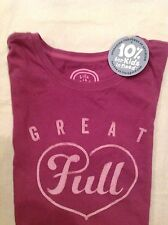 Life is Good Womens S/S T-Shirt Heart Love Classic Fit 100% Cotton NWT