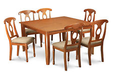 7 PC Dining Room Set for 6-dining Table and 6 Dinette chairs.
