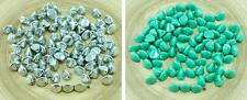 50pcs Large Pinch Bicone Faceted Czech Glass Beads 7mm