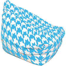 Blue And White Houndstooth Bean Bag
