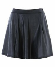 New Ladies Womens High Wasit WET LOOK Casual Mini Party Skirt With Elastic Band