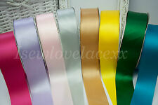 """Approx. 2"""" / 40mm Single Sided Satin Ribbon~1 & 5 Metres~8 Colours~Crafts~Gifts!"""