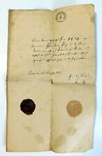 1857 Official Paper Document NASSAU GERMANY  - State Seal & Wax Seal