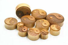 Wood Solid Ear Tunnels Plug Expanders Stretchers Earlet Gauges 10-30mm pick size