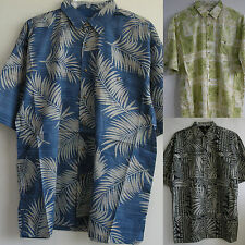 New Aloha Hawaiian Shirts Resort wear Cotton Lawn Chest Pocket Short sleeve