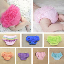 Cute Newborn Baby Infant Girl Ruffle Bow Bloomers Diaper Nappy Cover PP Pants