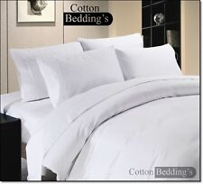 100% Egyptian Cotton 1200 1500 TC UK Size Hotel Scala Brand Linen in White Solid