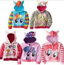 My Little Pony Wing Girls Kids Toddler Hoodie Cute Sweatshirt Coat Zip Jacket