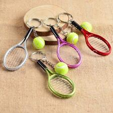 Creative 3D Tennis Racket Ball Pendant for Keyring Key Chain Fob Accessories