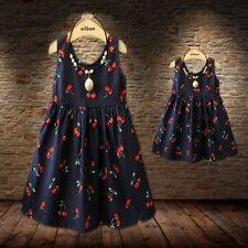 Women Mother Daughter Matching Dresses Summer Floral Dress Family Clothes Outfit