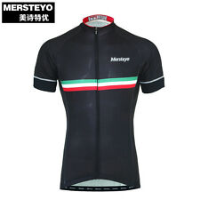 New Black Man's Cycling Wear Jersey Biking Racing Clothing Top Road Bike Clothes