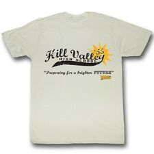 Back To The Future Hill Valley High 55 Off White Adult T-Shirt