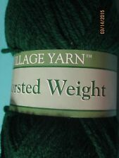 Village Yarn Assortment GREEN SELECTIONS 3 oz skein 100% Acrylic Worsted Wt #4