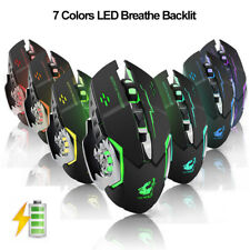 2.4G Wireless Rechargeable 2400DPI 6 Buttons Optical Usb Ergonomic Gaming Mouse