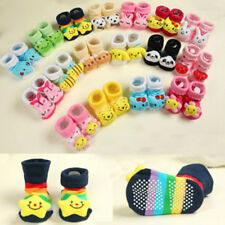 Cartoon Newborn Baby Girl Boy Anti-slip Socks Slipper Shoes Boots 6-18 Month NEW